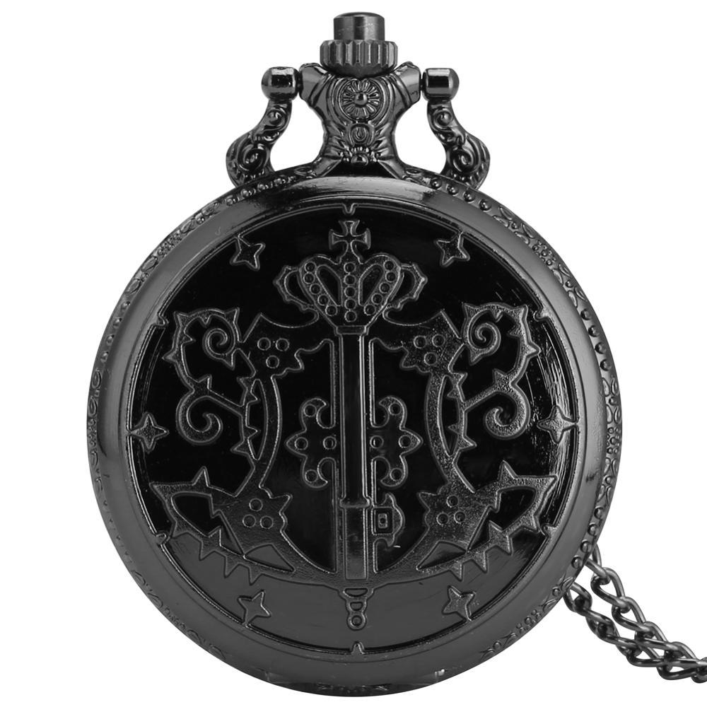 Reloj Mujer Japanese Kuroshitsuji Black Butler Sebastian Theme Quartz Pocket Watch Retro With Necklace Chain Clock Drop Shipping
