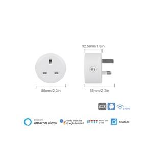 Image 2 - WiFi מתג שקע תקע בריטניה אלחוטי Extender מרחוק לשקע מתאם אנרגיה מטר חכם בית אוטומציה Alexa Google תואם