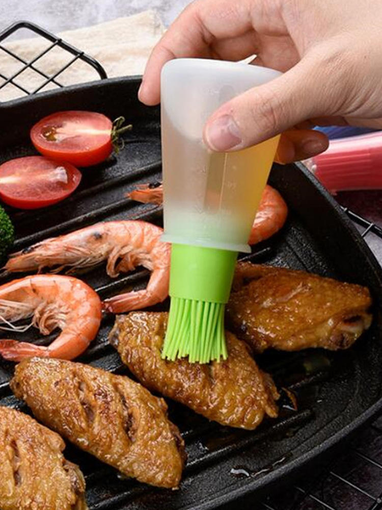 Oil-Bottle Brush Pastry Liquid-Oil Grill Bbq-Tool Kitchen-Tools Silicone Portable