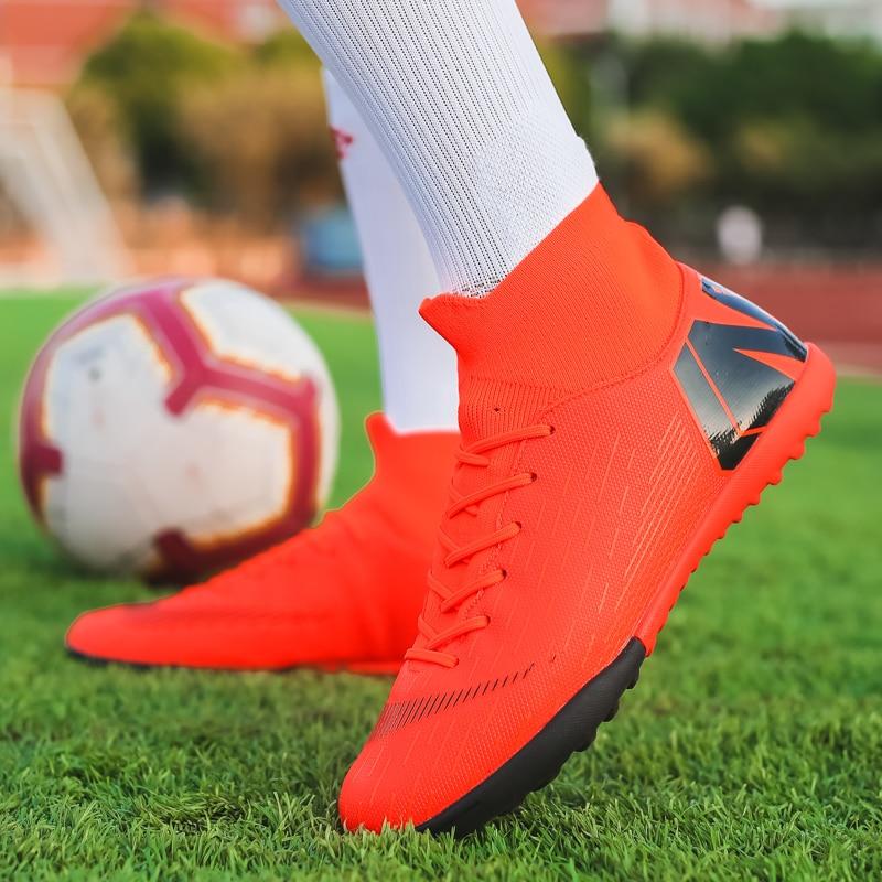 Turf Indoor Soccer Shoes Mens Alta Tornozelo
