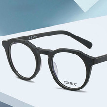 COETEOC Anti Blue Light Blocking Glasses Frame for Men Acetate Optical Myopia Glasses Antiblue Gaming Computer Glasses Women
