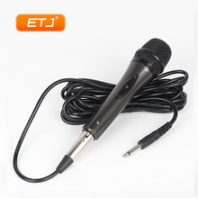 Dynamic KTV Microphone Uni-directional Vocal Wired Handheld Karaoke Microphone Plastic Body Lightweight Easy To Carry