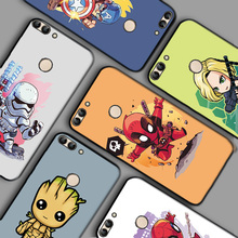 Cute Deadpool Black TPU Shell For Huawei P Smart Z Cases Plus Bags PSmart 2019 Case Clown Bumper