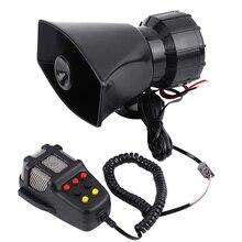 Głośnik samochodowy 12V Alarm Auto motocykl 7 ton głośny klakson syrena głośnik samochód pogotowia Alarm samochodowy dźwięk ostrzeżenie głośnik
