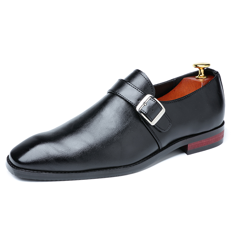 2020 Men Dress Shoes Designer Business Office Buckle Loafers Casual Oxfords Shoes Men's Flat Party Leather Shoes