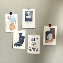 Ensemble de cartes abstraites d'art rétro, 5 pièces, affiche d'illustration, carte postale, accessoires Photo, papeterie décorative murale créative pour chambre à coucher, cadeau