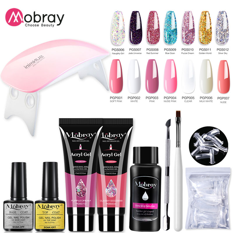 Extension-Nail-Kit Gel-Polish Manicure-Set Builder Nail-Gel Acrylic-Solution Poly Mobray