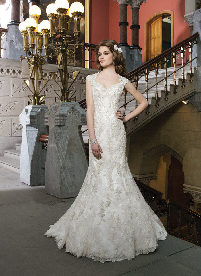 Robe De Mariage Sexy Sheer Back Mermaid Wedding Dress 2016 Luxurious Vintage Bridal Gowns Vestido De Novia Fast Shipping 2016