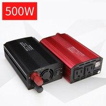 цена на Inverter 12V 220V 500W Peaks Power Voltage Transformer Converter DC 12V/24V To AC110V/ 220V Sine Wave Solar Inverter