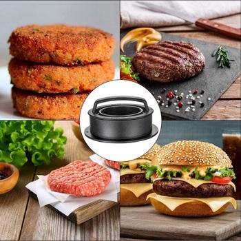 Prasa do burgerów do szynki foremka do mięsa 3 w 1 nieprzywierająca prasa do burgerów do robienia pysznych hamburgerów doskonałe Patties tanie i dobre opinie Hamburger makers CN (pochodzenie)