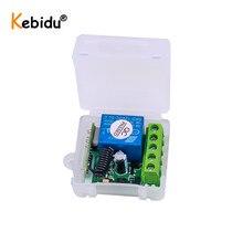 KEBIDU 12 В постоянного тока 1 канал 433 МГц беспроводной пульт дистанционного управления переключатель реле 433 МГц приемный модуль для обучения коду передатчик дистанционное управление