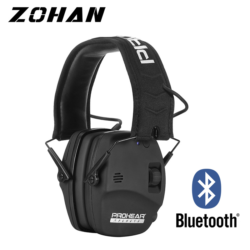 ZOHAN Electronic Bluetooth earmuffs Shooting Ear Protection Noise Reduction Professional Ear Muff for Hunting Ear Defender