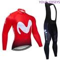 2020 M командная велосипедная майка 20D набор велосипедных штанов Ropa Ciclismo мужская зимняя термо флисовая Pro трикотаж для велосипедистов одежда