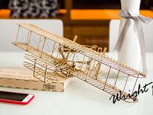 ELERC DIY Craft, Wood Furnishing Building Kits, Gift, Toys, Wright Brothers Flyer I Free Shipping