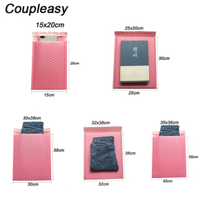 Image 5 - 50 ピース/ロットポリバブル封筒ピンク便包装袋自己シールクーリエバッグ防水無料バッグメーラー