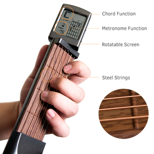 Image 2 - SOLO Portable Guitar Chord Trainer Pocket Guitar Chord Finger Practice Tools Musical Chord Trainer with LCD Screen for Beginner