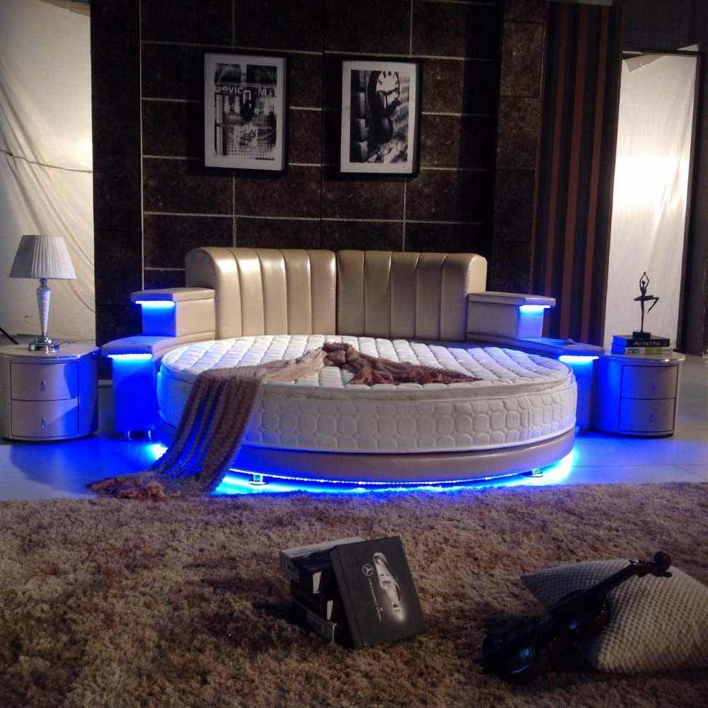 led light divan bedroom fuiniture round