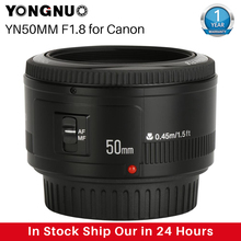 YONGNUO YN50mm YN50 F1.8 EF EOS 50MM AF MF מצלמה עדשה עבור Canon Rebel T6 EOS 700D 750D 800D סימן II IV עבור טלפון מצלמה עדשה