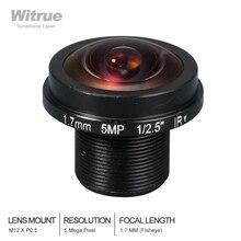 Witrue HD Fisheye CCTV Lens 5MP 1.7MM M12 * 0.5 Mount 1/2. 5 F2.0 180 graden voor IP Security CCTV Camera S