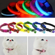 New Adjustable Pet Collar Nylon Safety Reflective Patch with Bells Safety Buckle for Pet Dogs and Cats Pet Supplies