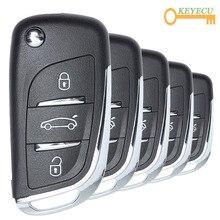 KEYECU 5 개/몫 XHORSE 영어 버전 XN002 DS 스타일 무선 범용 원격 키 3 버튼 VVDI 키 도구, VVDI2 용