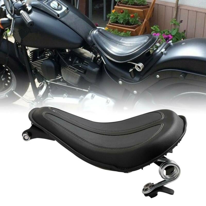 Motorcycle Motorbike Solo Seat W/Brackets Springer For Harley Sportster 04-06 10-18 Iron 883 2004-18 XL1200 XL883