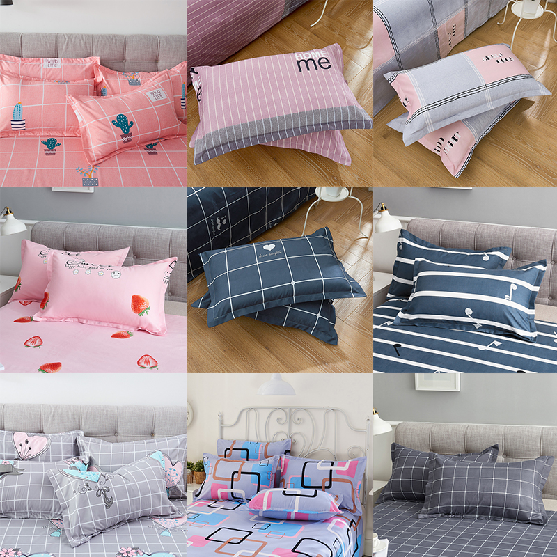 1pcs Fashionable 74*48cm Fine Pillowcase Bed Single Pillow Covers Bedroom Case For Pillow Cushion With 16 Patterns Optional