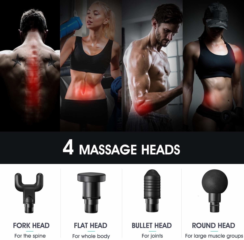 fascia massagem pistola pescoço corpo massageador
