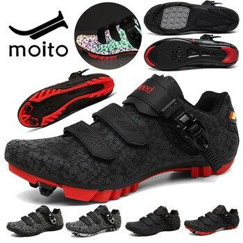Zapatos de Ciclismo para adultos, Bicicleta eléctrica Original, con autosujeción, luminosos, para...