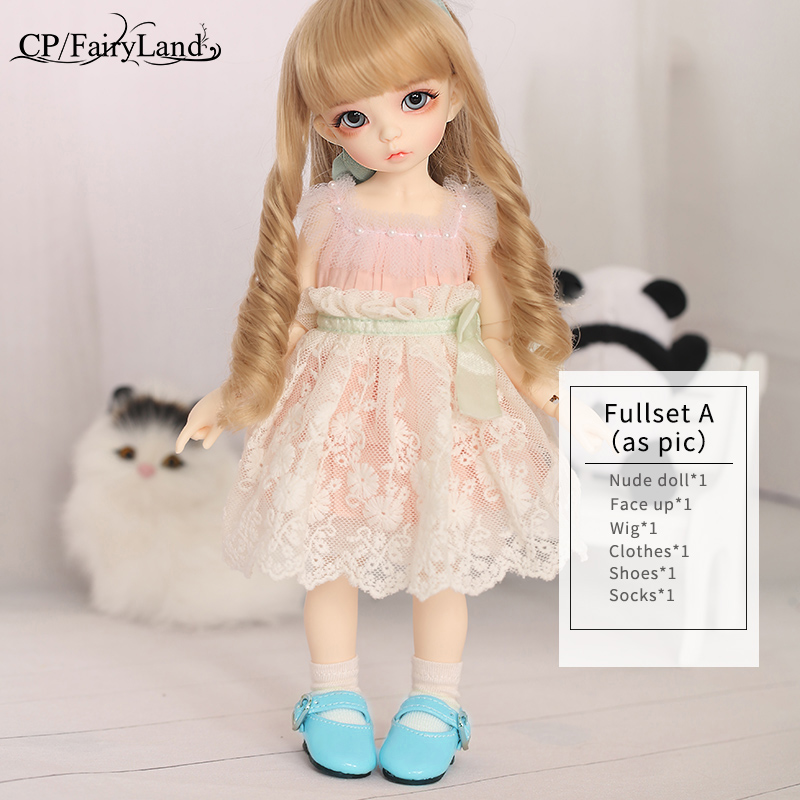 Image 5 - BJD Dolls Littlefee Ante 1/6 Yosd Pink Rose Golden Curly Hair Lolita Fullset Option Girl Toys For Girls Best Gift Fairyland FL-in Dolls from Toys & Hobbies