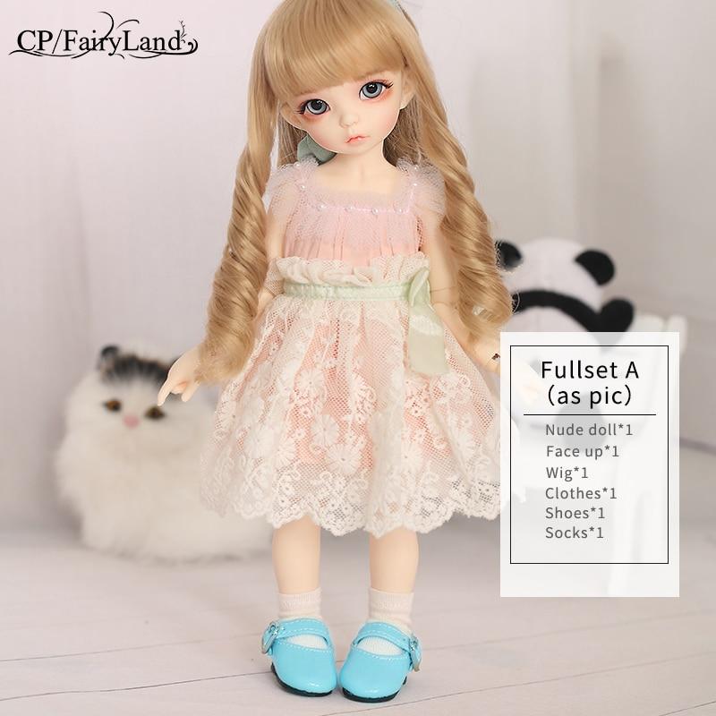 BJD poupées Littlefee Ante 1/6 Yosd Rose Rose doré cheveux bouclés Lolita Fullset Option fille jouets pour filles meilleur cadeau Fairyland FL - 5