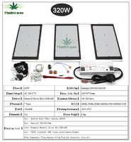 2020 último Samsung LM301B/LM301H regulable HLG 320W Placa de luz LED DIY grow light para invernadero