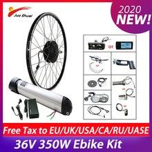 Elektrische Fiets Conversie Kit 36V 350W Ebike Fiets 36V10AH Mtb Racefiets Voor/Achter Borstelloze Hub motor Lithium Batterij