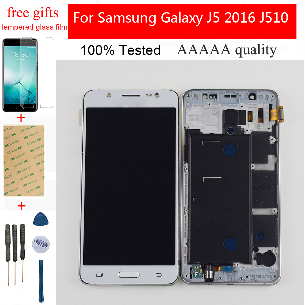 Adjustable LCD For Samsung Galaxy J5 2016 SM-J510F J510FN J510G J510 Touch Screen Digitizer Sensor Panel Module Assembly Frame
