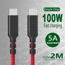 Coaxial USB C To USB Type C Data Cable PD 100W Fast Charger Cable USB-C Type-C Charger for Samsung S20 Macbook iPad