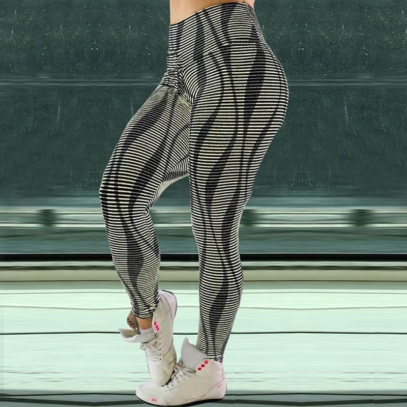 Для женщин брюки 3D Высокая Талия Леггинсы 2020 Новинка, колготки Для женщин тренировки дышащие Фитнес Костюмы тренировочные брюки женский