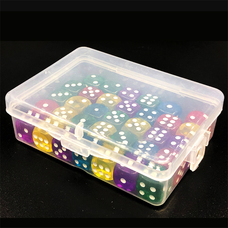 4 Pieces 9*6.5*3cm PP Storage Dice Box For Token Board Games Accessories Container Case Portable Holder Card Boxes
