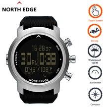 ساعات رقمية مقاومة للماء 100 متر حافة الشمال ساعة تعمل باللمس الغوص بارومتر البوصلة سوار مقياس الارتفاع الساعات الغوص ساعة الرجال الرياضة