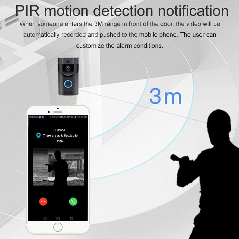 WIFI Doorbell Chime Intercom Ip-Camera Smart-Video-Door IP65 Waterproof Anytek B30 Wireless