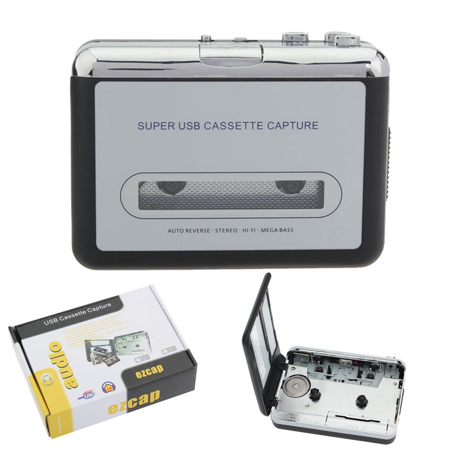 LEORY 12V Classic USB Cassette Player Cassette To MP3 Converter Capture Walkman Music Player Cassette Recorders Convert Music