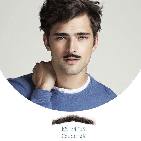neitsi 1 pcs artesanal barba falsa 100 cabelo humano falso bigode em747