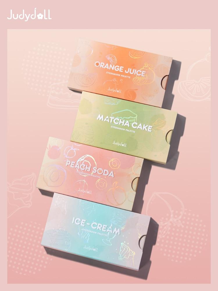 Judydoll Eyeshadow Pallete 8 Color Sweet Pink Peach Orange Matcha Cake Eye Shadow Palette Girl Makeup Cosmetics
