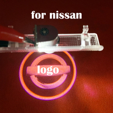 Projector LED lamp 12V For Nissan Logo Car Door  Door Light-Up Logo for nissan Non-destructive installation Door Welcome Lights free shipping compact 10w led sports logo light design image gobo projector custom pattern hall door wall welcome lights fixture