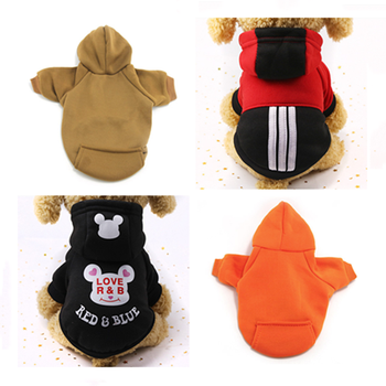 Autumn Winter Dog Warm Coat Pet Clothing Cat Coat Jacket Dog Jacket Pet Dogs Clothes Pure Jacket For Chihuahua Cat Cotton