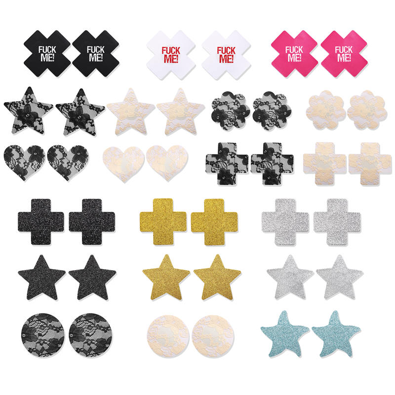 5 Pairs/Set Invisible Stick On Bra Strapless Bra Pad Sexy Nipple Cover Cross Stickers Breast Petals Chest Covers Bra Accessories