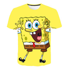 3D Printing Boy Funny BBt shirt Cartoon Anime Girl Clothes Summer 2021 New Baby O-Neck Short-Sleeved T-Shirt Tops 4-14