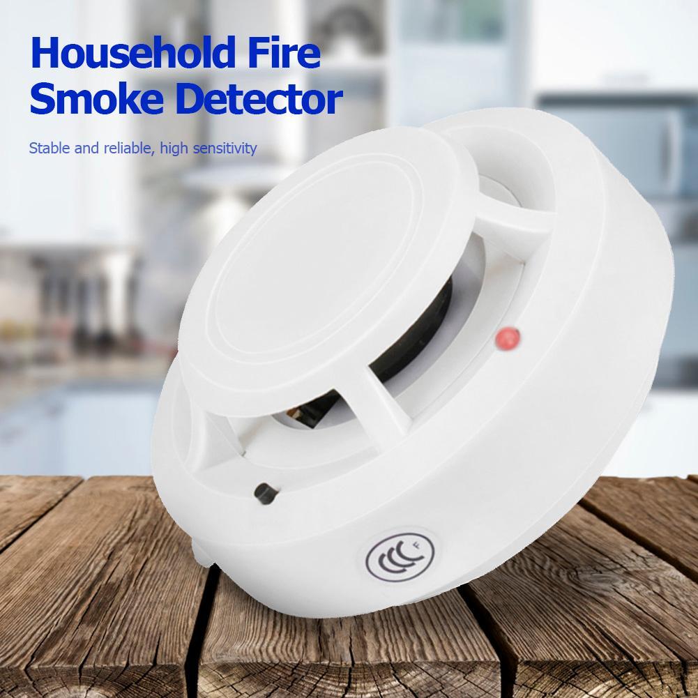 Датчик дыма, пожарная сигнализация, Домашняя безопасность, независимый датчик сигнализации с высоким децибелем, громкоговоритель с длител...