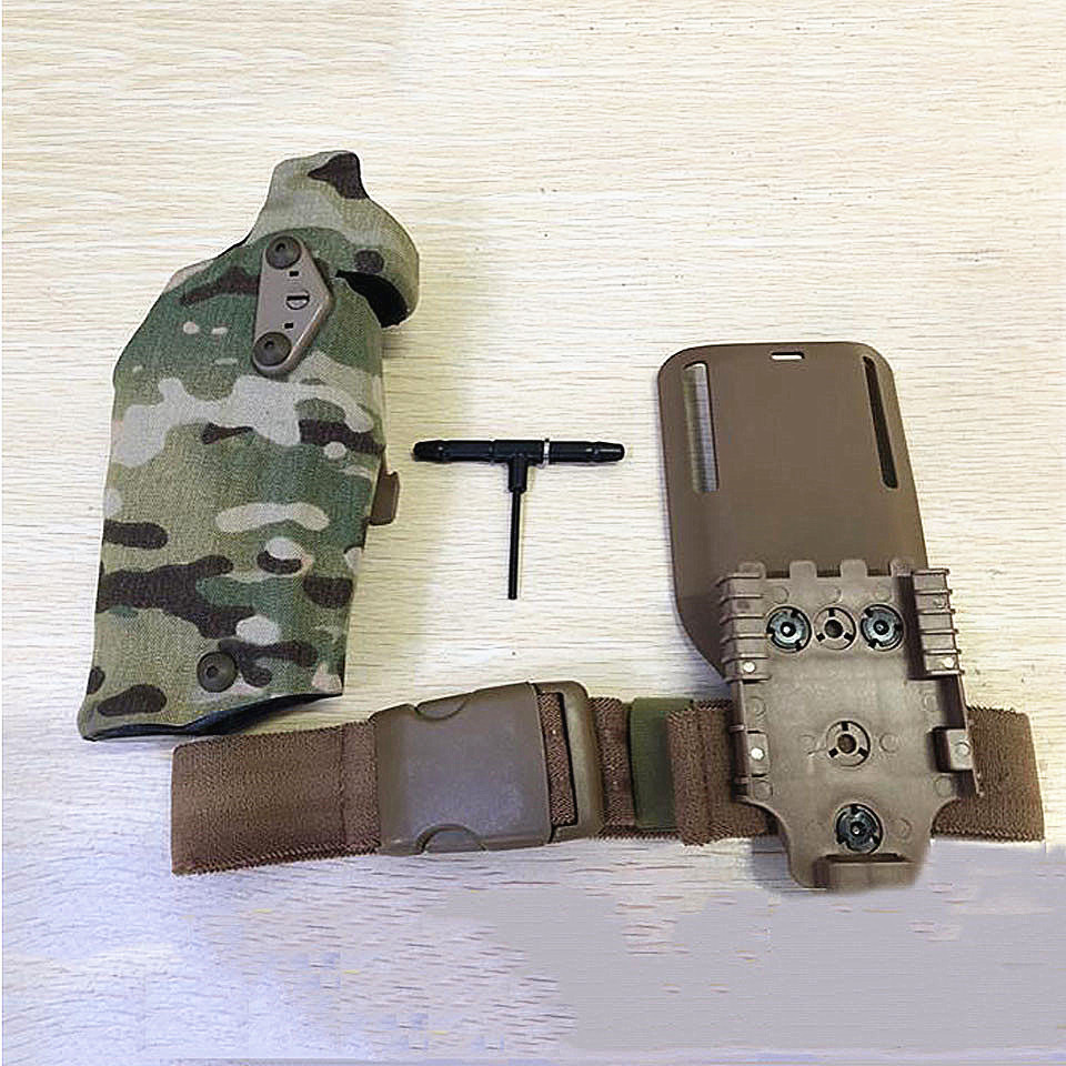 TMC Skirmish Airsoft Holsters Glock17 X300 Holster Drop Adapter Quick Release Holster Gaiter Belt Set Military Tactical Holster