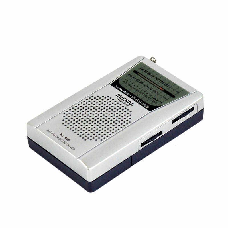 Draagbare Am Fm Radio Ontvanger Mini Digitale Pocket Ingebouwde Luidspreker Handheld Universele Ontvanger Outdoor Camping MP3 Speler