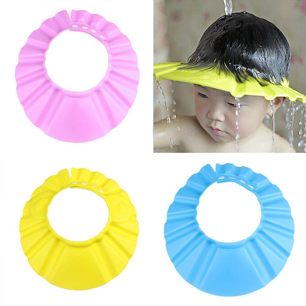 Baby Kids Child Shower Cap For Hair Wash Bath Soft Waterproof Protect Caps Baby Accessories Baby Kid Shower Cap